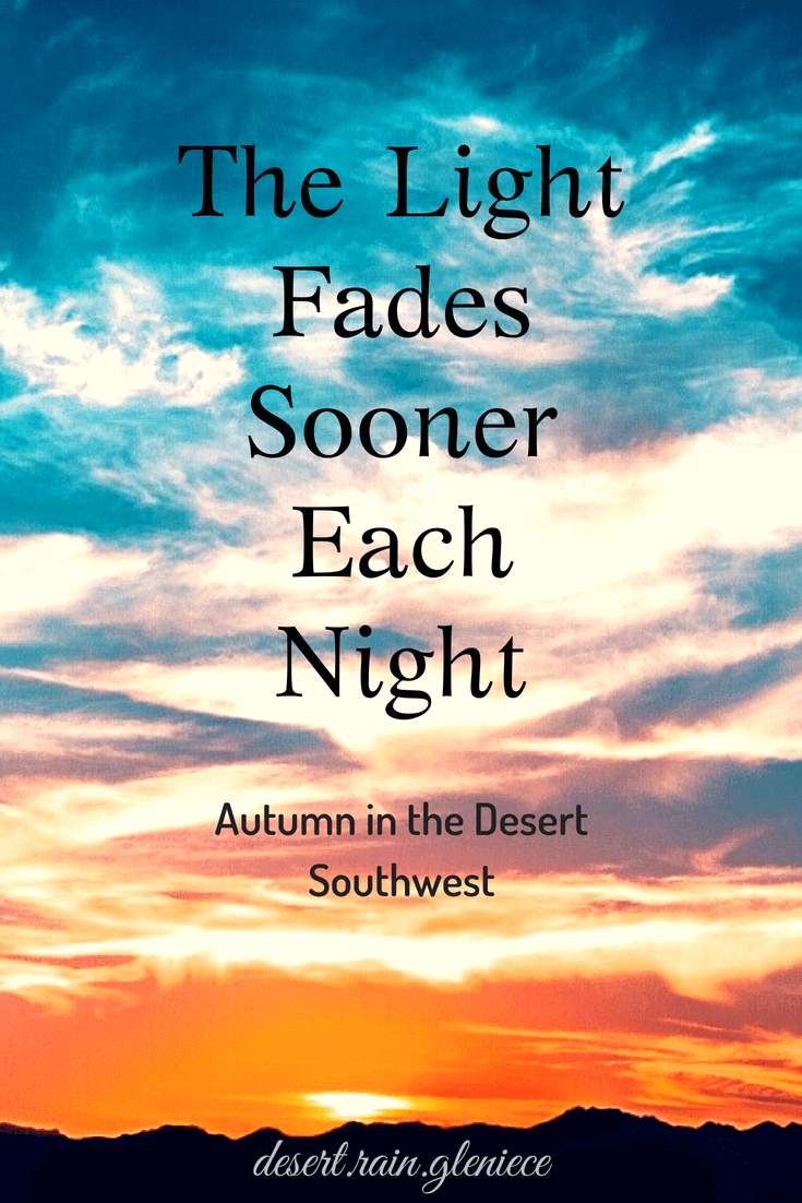 Autumn in the desert is a joyful time. The sun is less harsh, the breeze cools us down. But the relief brings a restlessness of needs to be done. #autumn, #desert, #southwest, #overcoming, #trustinGod, #perspective