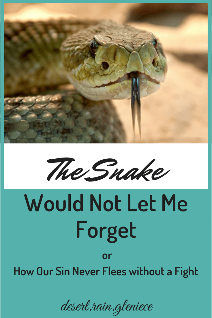 Battling sin in our lives is like fighting rattlesnakes. Difficult, but necessary. If we ignore sin, we risk getting bite when we least expect it. #spiritualbattles, #overcoming, #sin