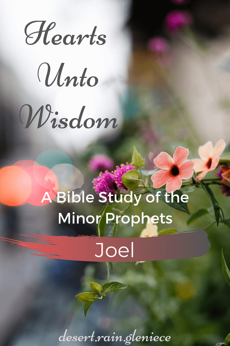 Joel: Hearts Unto Wisdom Bible Study of the Minor Prophets ~ God used affliction as a wake-up call in Joel's time and He lovingly does the same for His children today. Time is short. Let us heed the warnings in His word and not be unprepared. #joel, #minorprophets, #kjvbible, #biblestudyforwomen, #heedthewarnings